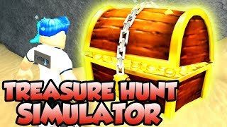 TREASURE HUNT SIMULATOR IN ROBLOX! *GETTING THE RAREST CHEST!*