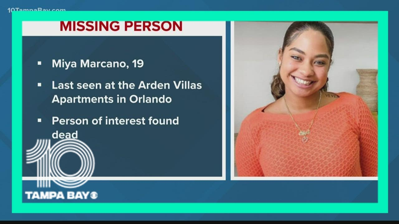 'Person of interest' in Miya Marcano's disappearance found dead; 19 ...