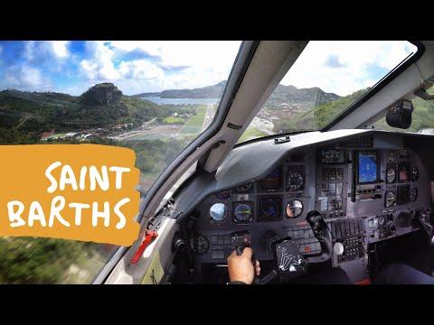Trip To St Barths On The Pilatus PC-12 - GoPro *ATC Audio*