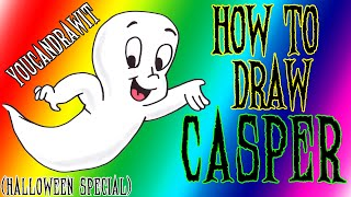 How To Draw Casper The Friendly Ghost ✎ Halloween Special ✎ YouCanDrawIt ツ 1080p HD