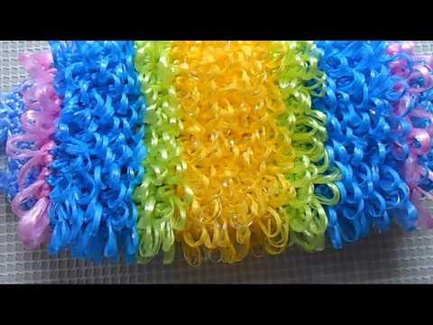 Вязание мочалки крючком с вытянутыми петлями видео для начинающих