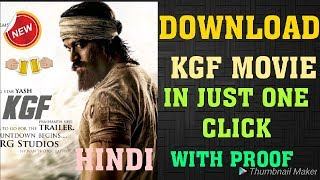 How to download KGF movie in Hindi | KGF Download in one click. 💯 Full Hd