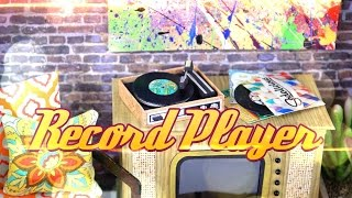 DIY - How to Make:  Doll - Vintage - Record Player - Handmade - 4K