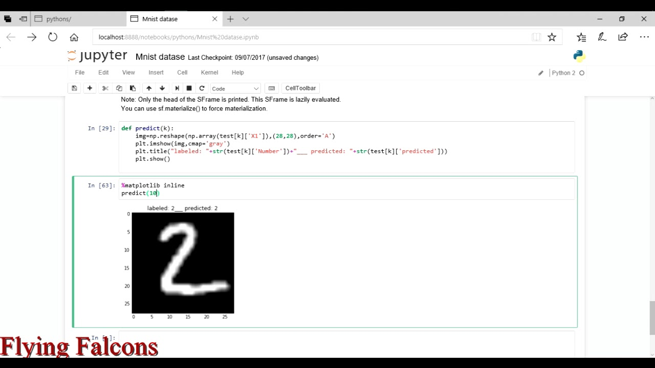 Handwritten digits recognition system in python using graphlab