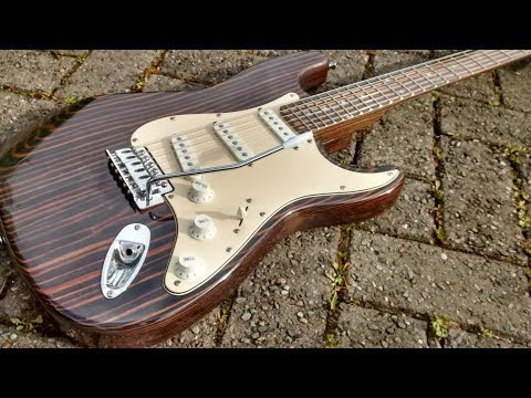 zebrawood stratocaster from china