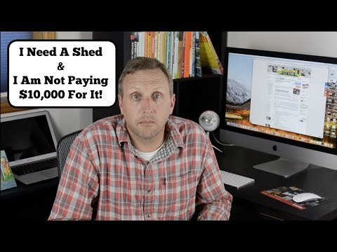 16×20 Shed Build – Episode 1:  Where to get Free 16×20 Shed Plans.