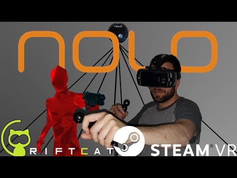 Testing Nolo Ceiling Mount with Riftcat in SteamVR - Superhot Gameplay!