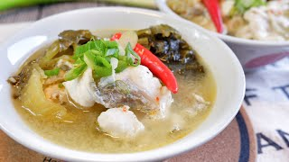 Super Easy Szechuan Fish Soup w/ Pickled Mustard 酸菜鱼 Chinese Hot & Sour Fish Soup Recipe