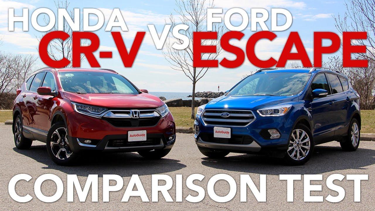 2017 Ford Escape Vs Honda Cr V Compact Suv Comparison