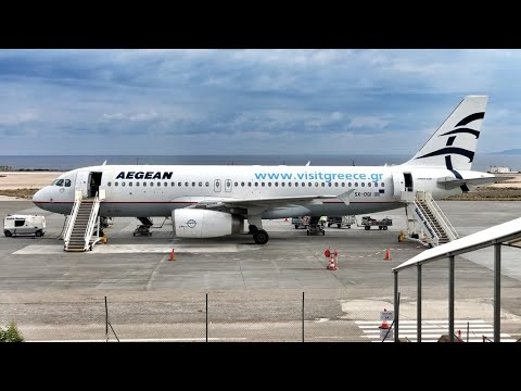 Aegean Airlines Flight Experience | OA352 Athens To Santorini