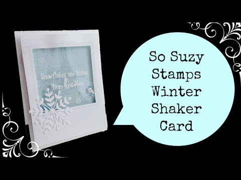 Stamping and Embossing on Acetate How-to Shaker Card