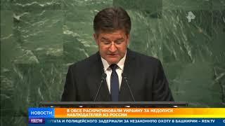 Председатель ОБСЕ раскритиковал Киев за недопуск российских наблюдателей