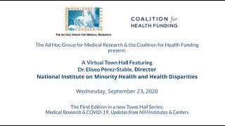 Ad Hoc, CHF Virtual Briefing With NIMHD Director Dr. Eliseo J. Pérez-Stable