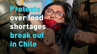 Protests over food shortages break out in Chile