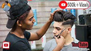 MESSY POMP HAIRSTYLE : New Mens Haircut & Hairstyle Tutorial 2019   Yusuf Khan