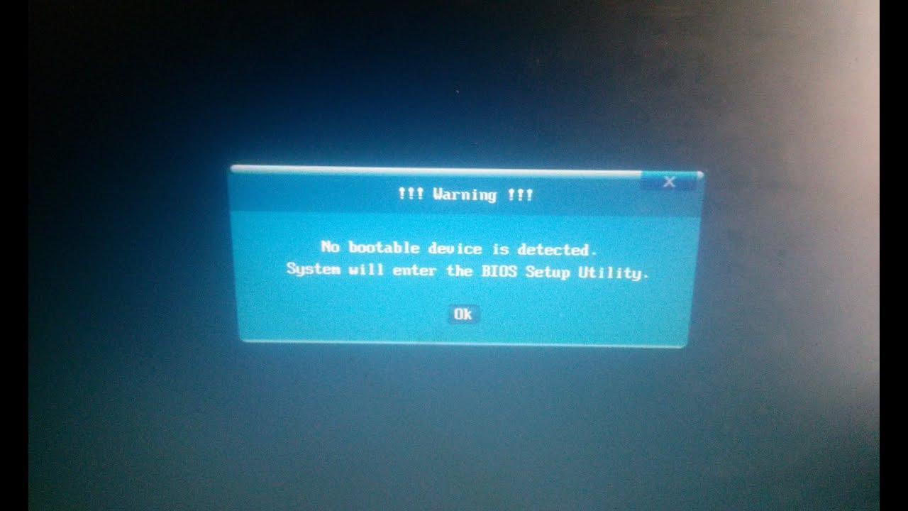 Cara Mengatasi No Bootable Device Is Detected Fix 100 Youtube
