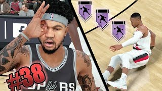 Nba 2k18 mycareer - hall of fame ankle breaker unlocked! snapped damian lillards ankles! ep. 38