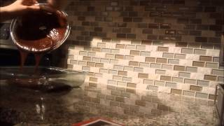Making Betty Crocker Fudge Brownies With Pyrex And Misto Gourmet Stainless Steel Olive Oil Sprayer