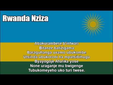 National Anthem of Rwanda (Rwanda Nziza) - Nightcore Style With Lyrics