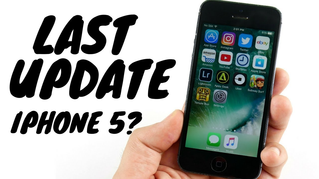 Iphone 5 Ios 10 3 3 Review The Last Update Youtube