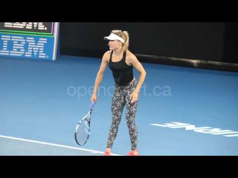 Bouchard warms up for Coco