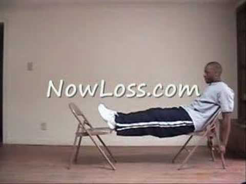 Lower Ab Exercise You Can Do At Home w/ 2 chairs