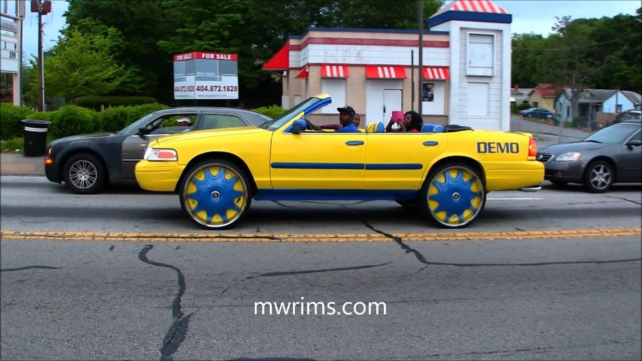 Ford Crown Vic Droptop Vert Convertible On Dub Floaters Slidin In Atlanta