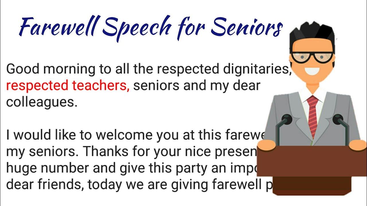 Farewell Speech for Students by Teacher   Speech in English   How to Start  a Speech  
