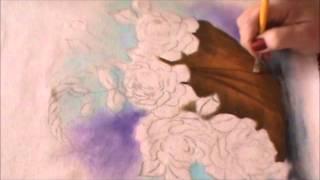 Pintura de cesta de vime