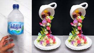 Floating Tea Cup With Plastic Bottle | Cara Membuat Cangkir Tumpah dengan Botol Plastik