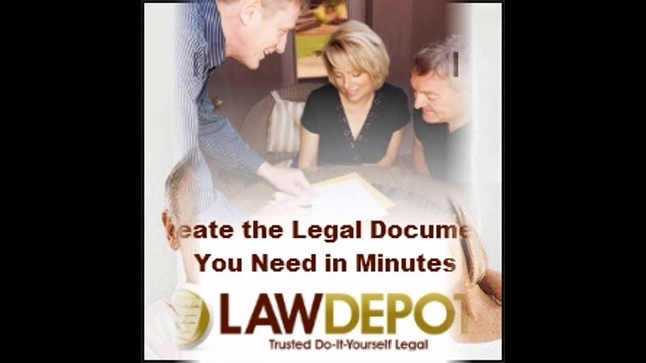 LawDepot Easy Legal Forms In Minutes YouTube - Easy legal forms