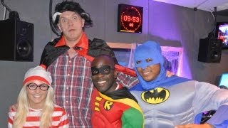 Inbetweeners Headmaster Greg Davies at KISS FM (UK) on Halloween