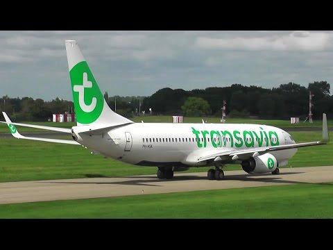 [FullHD] Transavia B737-800 *New Livery* PH-HSK take-off @ Rotterdam The Hague Airport