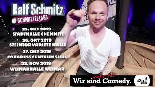 Ralf schmitz freut sich auf seine kommenden shows in chemnitz, halle, suhl und weimar. alle tickets hier: https://d2mberlin.de/veranstaltung/ralf-schmitzelja...