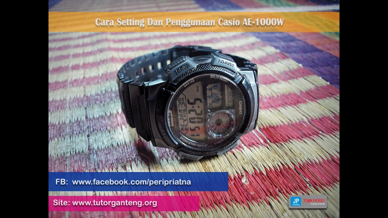 Cara Setting Jam Tangan Casio Ae 1000w Review Youtube Standard 1200wh 1bv