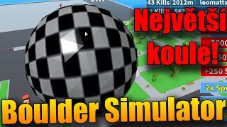 NOTHING the CITY the BIGGEST balls! 😱 | ROBLOX: Boulder Simulator