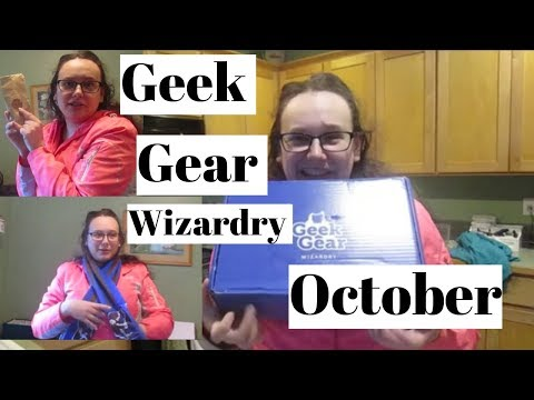 GEEK GEAR WORLD OF WIZARDRY UNBOXING! | Ravenclaw  October 2018