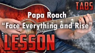 Papa Roach-Face Everything and Rise- Acoustic Guitar Lesson-Tutorial-How to Play-Tabs