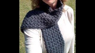 FREE Crochet Scarf - Stormy Waters Infinity