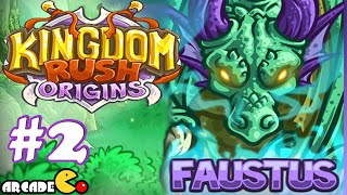 kingdom Rush Origins - Unlocked New Hero Faustus Redwood Stand 3 Stars Walkthrough