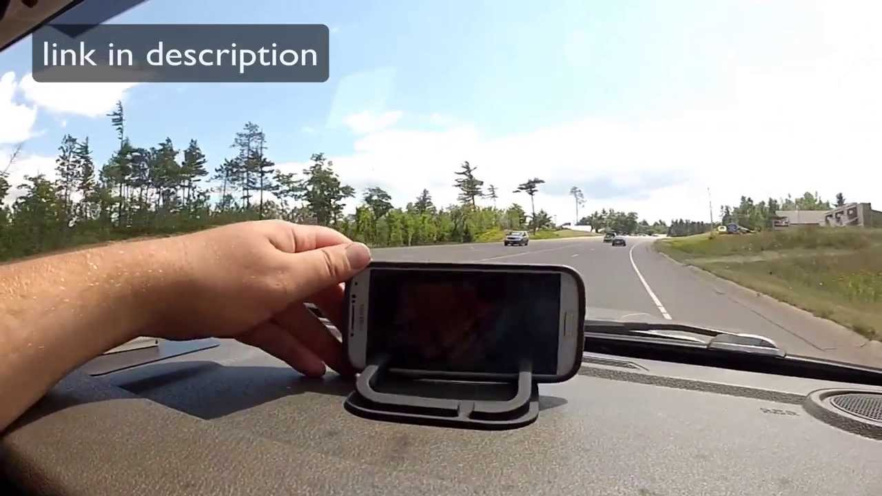 Roadster Smartphone Sticky Pad Dash Mount Youtube