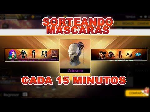 FREE FIRE|SORTEANDO MÁSCARAS DE LA CALAVERA Y MUCHO MÁS (CADA 10M)//FREE FIRE
