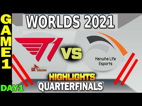 T1 VS HLE HIGHLIGHTS | GAME 1 | Quarterfinals Day 1 | LoL Worlds 2021 | T1 Vs Hanwha Life Esports