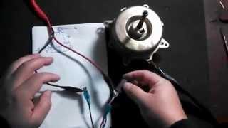 Motor de 3 cables (1 velocidad) Ventilador - Como medir bobinas