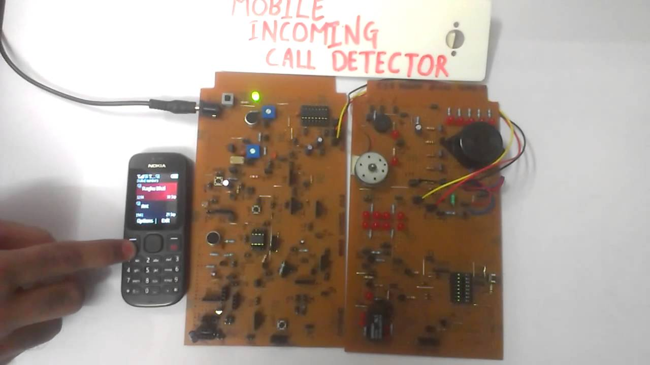 Mobile Incoming Call Detector Using 555 Timer Ic Youtube Use Build Spaceship Alarm Circuit Diagram