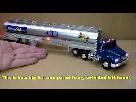 Custom Lighted Sunoco gas tanker