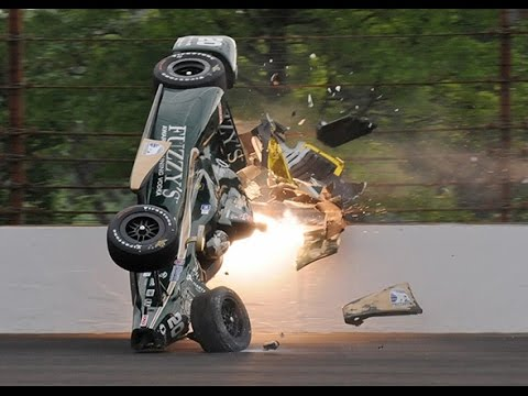 IndyCar - 2015 Indianapolis 500 - Crash Compilation (No Music)
