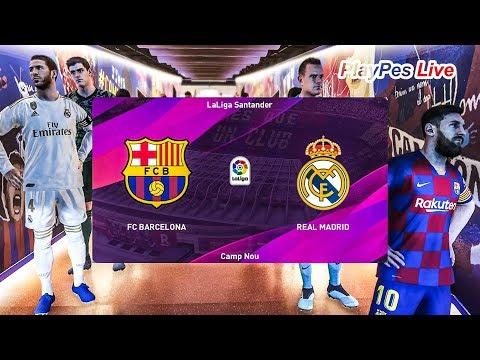 PES 2020 - BARCELONA Vs REAL MADRID - El Clasico - MESSI Vs HAZARD - Gameplay PC