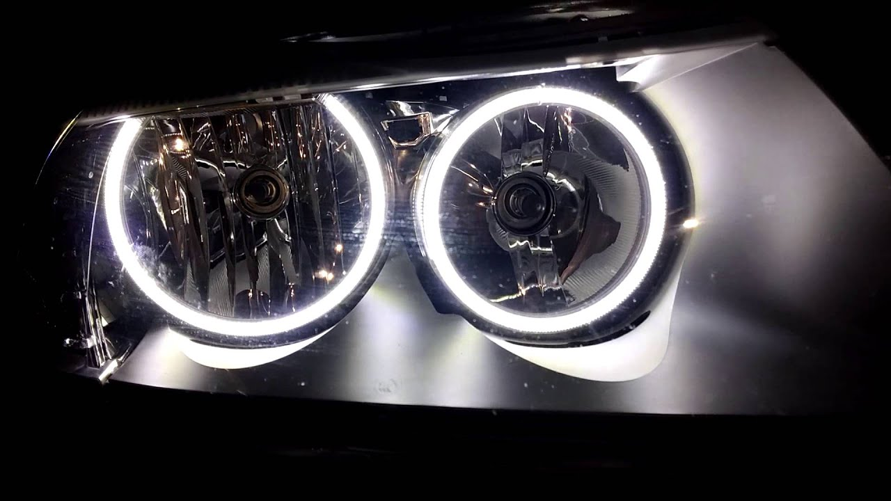 Bmw e87 angel eyes headlights-1858
