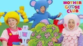 Here We Go Round The Mulberry Bush | Nursery Rhymes Baby Songs | Mother Goose Club | Songs for Kids